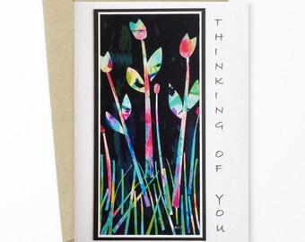 Watercolour Greeting Card/Thinking of You