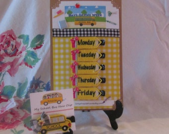 DAYS of the WEEK- Hair Clip Set