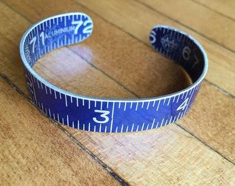 Cuff Bracelet from Blue Vintage Folding Ruler