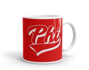 Philadelphia Coffee Mug, Philadelphia Baseball Sports Letters Coffee Mug