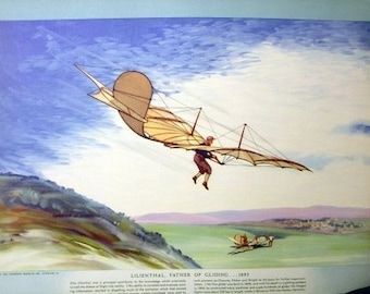 1893 Lilienthal Germany Father Gliding Glider Early Flight