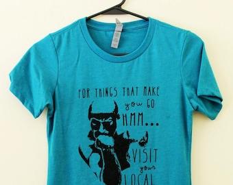 Women's Library Tshirt, Things that make you go Hmm, Womens Tshirt, Screen print, Books, Reading