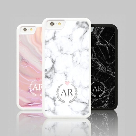 iphone 7 plus case marble initials