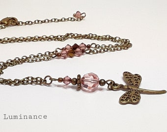 Pink fashion necklace