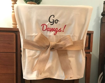 Desk Chair Covers/Monogrammed Chair Back Cover / Personalized Chair Cover / Dorm  Room Chair