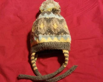 3 months hand knitted baby Hat