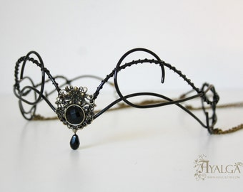 Moon crown -Black elvish tiara