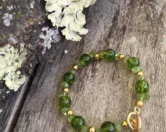 Natural Peridot Bracelet August birthstone