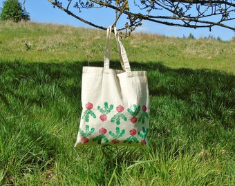Radish Tote Bag - 100% Recycled Cotton - Hand printed - Vegetable Tote - Gardening Gift