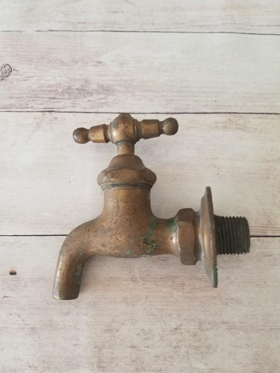 Brass Faucet/ Vintage Brass Spigot/ Garden Faucet/ French Farm House/  Bathroom Faucet/ Antique Faucet/ Vintage Faucet/ Brass Tap/ Towel Hook From  ...