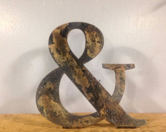 Custom 12 Inch Metal Ampersand Sign Free Standing or Wall Art