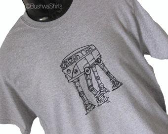 SCIFI Campervan / AT AT Star Wars Inspired Funny Tee Shirt T Shirt Top Mens