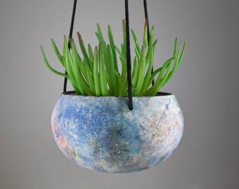 Nebula Planter // Handmade Ceramic Hanging Planter // Indoor Hanging Planter // Ceramic Plant Pot // Galaxy Planter //