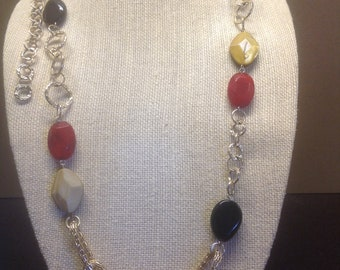 Vintage Gold  and Gemstone Necklace