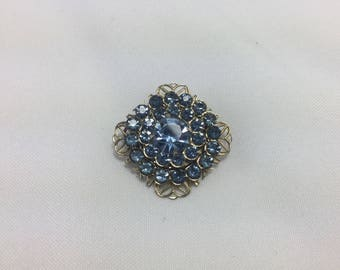 vintage 1950s blue brooch