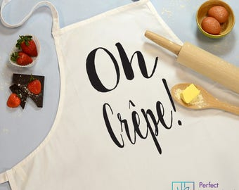 Oh Crepe! Personalized Apron, Baking Apron, Baking Gift, Kitchen Cotton Apron, Chef Cooking Aprons, Custom Cooking Gift, Personalised Gifts