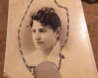 Sterling and Rose Quartz Necklace
