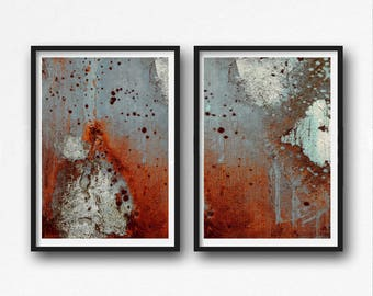 Printable Art, modern abstract, Industrial Decor, Colorful wall art, blue, artwork, Loft Art,brown, orange, gray, light blue, brown,
