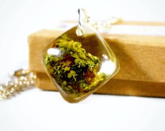 Healing Flower Pendant-Weed Gifts-Weed Necklace-Weed Gift Boyfriend-Real Weed Jewelry-Hemp Necklace-Marijuana Jewelry-Best Buds Necklace
