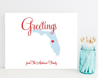 Florida Stationery - State Stationery, Stationary - Cute Florida Gift