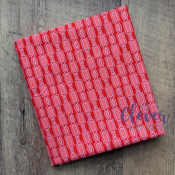 SALE! Quilting Fabric, Geometric Red - Ardently Austen, Amanda Herring, Riley Blake Designs, Yardage