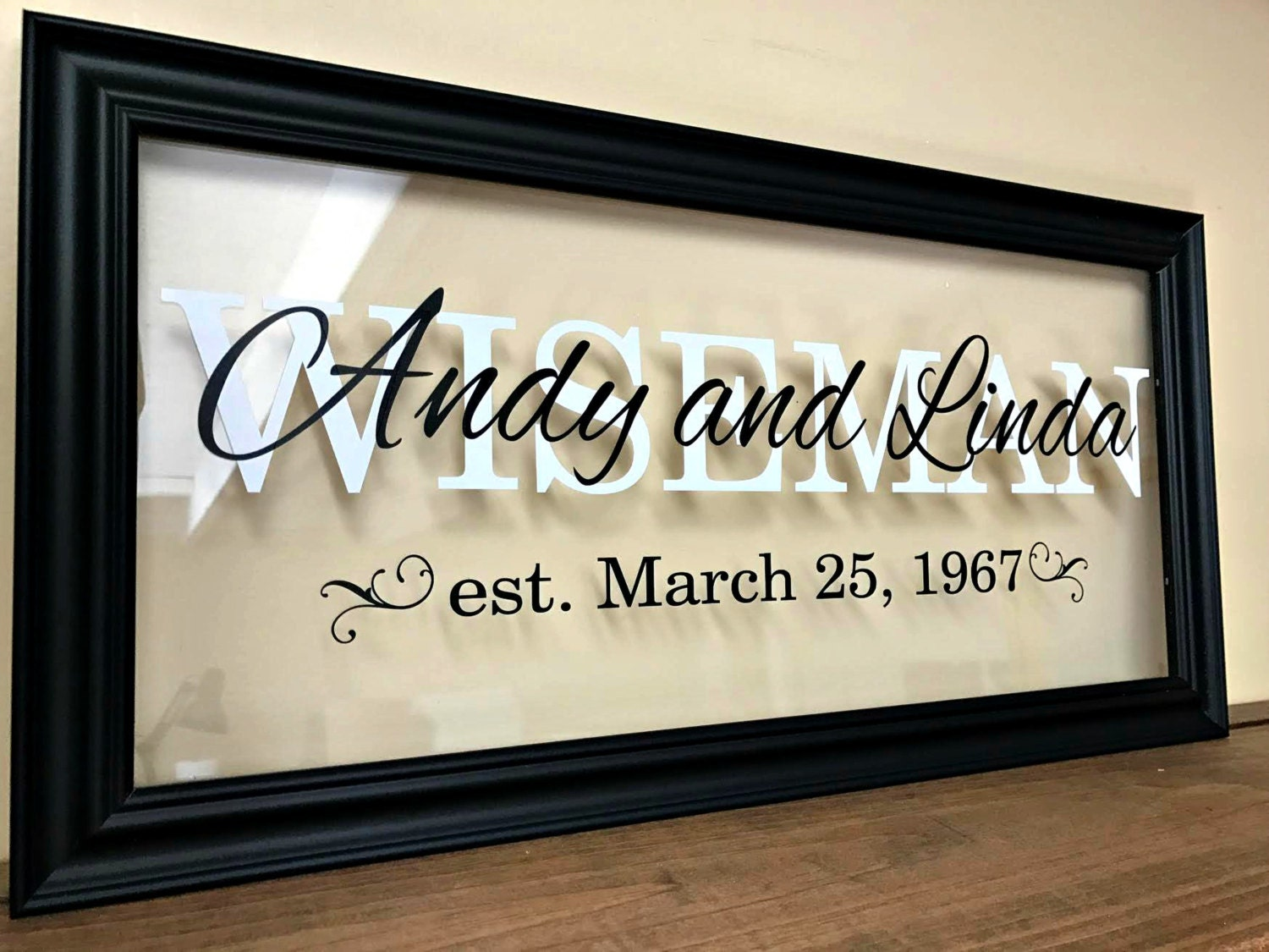 Wedding Art Gifts: Farewell Gift Wedding Gift Last Name Sign Personalized Couple