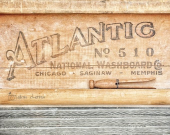 Rustic Laundry Room Decor, Fine Art Photography Print, Neutral Art, Farmhouse Wall Decor, Gray & Brown | 'Atlantic No. 510'