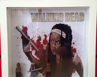 LEGO Michonne (The Walking Dead) Minifigure Frame