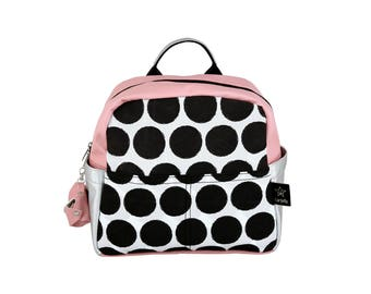 Kids backpack ,Dots-pink&silver,New Collection,pre-school backpack,  childrens backpack