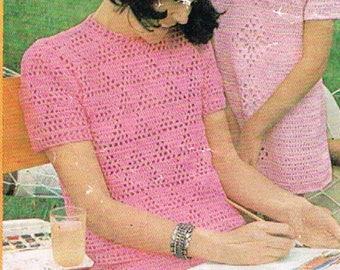 Vintage Patons Womens top PDF Pattern