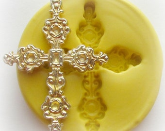 Cross Silicone Mold Resin Polymer Clay Mould