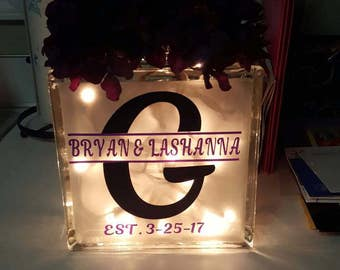 Personalized etched glass blocks