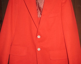Retro mod 60s-70s mens red sportcoat blazer by College Town Clothes by BOB vOGEL