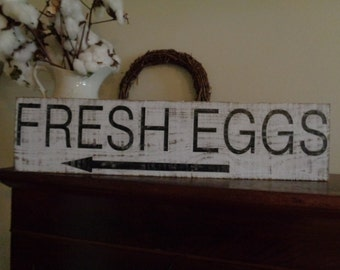 Fresh Eggs Sign, Kitchen Signs, Fixer Upper Signs, Custom, Farmhouse Signs, Rustic Signs, Wall Hangings, Wall Decor,