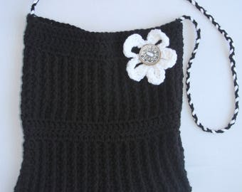 Crochet pattern textured flower bag purse PDF pattern Instant Download