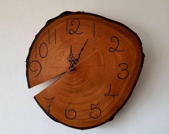Cherry Wood Tree Slice Clock