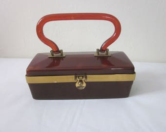 "1950s Bakelite Purse by ""Dorset Rex, Fifth Avenue"""
