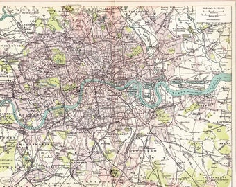 1902 downtown london with the thames west end fulham the city woolwich