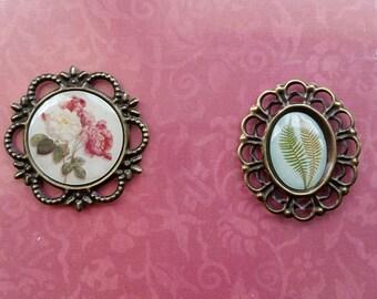 Vintage EMBELLISHMENTS, Metal Trinkets, Couture Creations C'est La Vie, Bird Embellishments, Metal Embellishments, Floral Embellishments