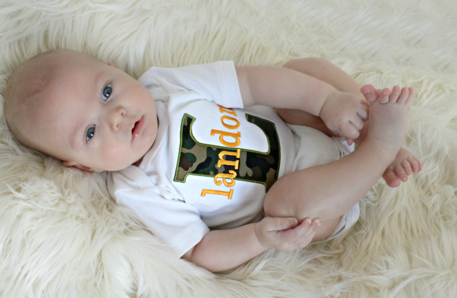 Baby shower gift boy monogrammed baby boy clothes camo baby zoom negle Image collections