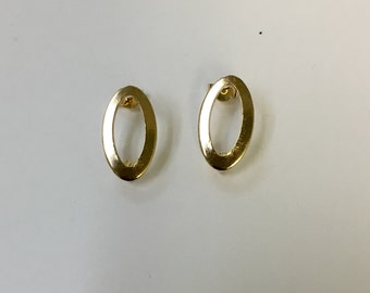 Open Oval  earring post. 18/20 Goldfilled earring.