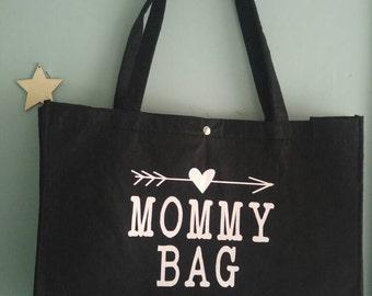 Black felt bag