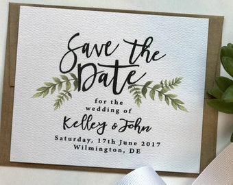 Simple Save the Date Cards, Floral Greenery Save the Date, Best Selling Items