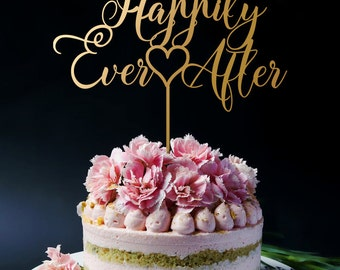 Wedding Cake Topper - Happily Ever After Cake Topper A2048