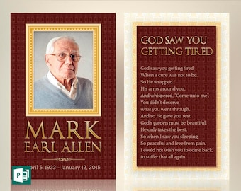 Legacy Memorial Prayer Card Publisher Template