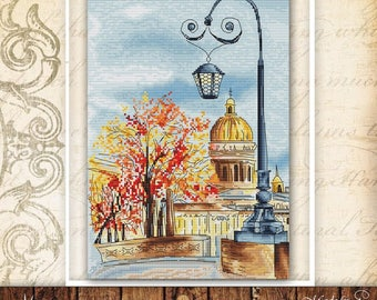 "PDF Cross Stitch Pattern ""October"""