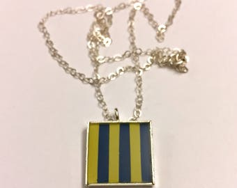 G Nautical Flag Alphabet Pendant