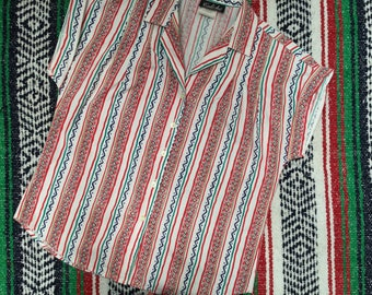 90's graphic Stripe Shirt