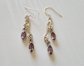 Amethyst Gemstone Earrings | Genuine Gemstone Earrings | 925 Sterling | February Birthstone