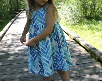 Fish Scale Dress, baby dress, toddler dress, girl dress, summer dress, summer outfit, fish scales, blue dress